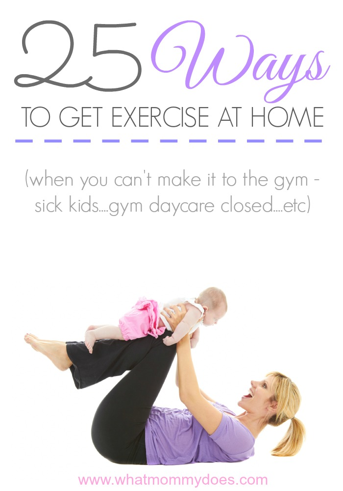 25 Ways to Get Exercise at Home