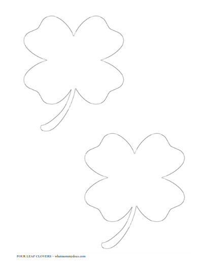 free printable four leaf clover templates large small patterns
