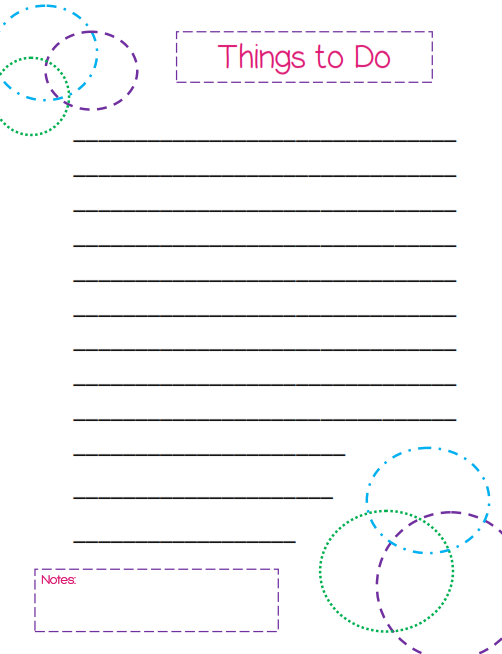 Things to Do List – Colorful Circles Template