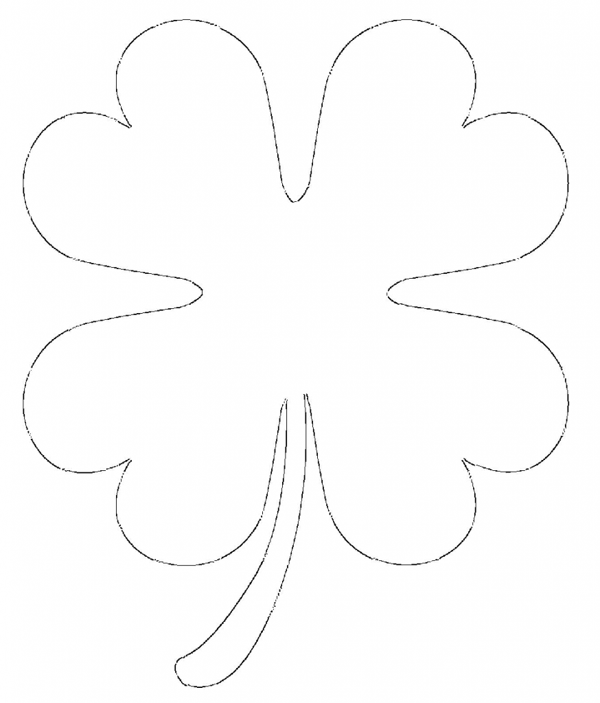 It is a graphic of Tactueux 4 Leaf Clover Printable