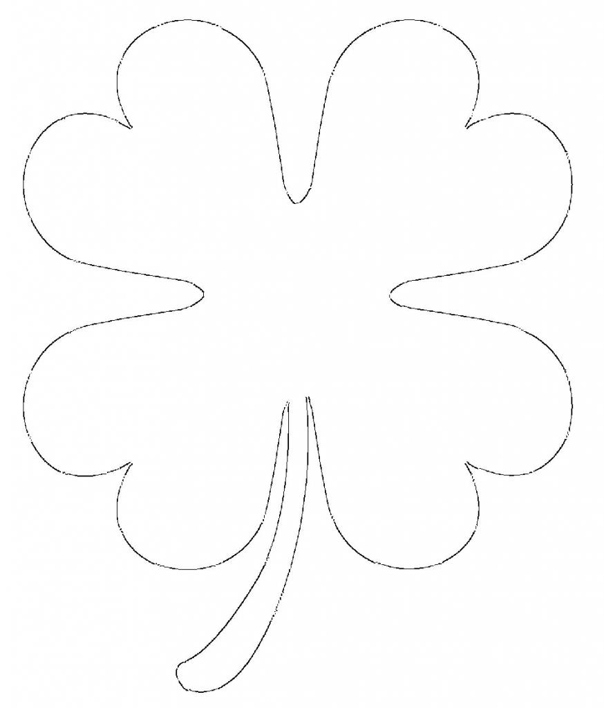 Printable 4 leaf clover heart shaped leaves