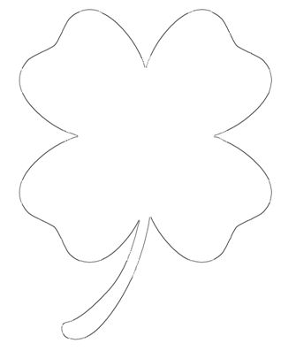 Four Leaf Outline - the perfect template for St. Patrick's Day craft projects!