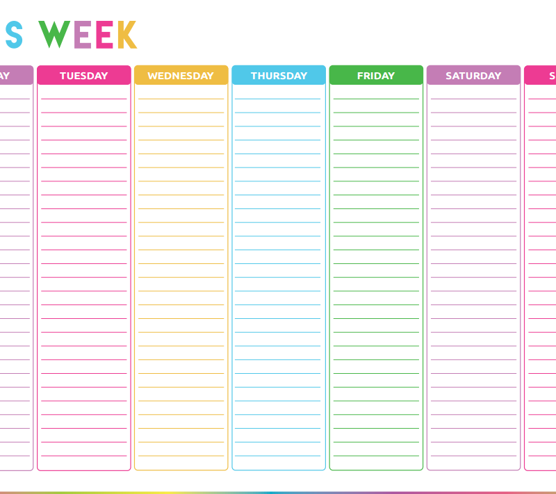 Free Printable Weekly To Do List – Printable Planner Template