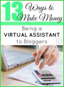 13 Ways to Make Money Being a Blogging Assistant