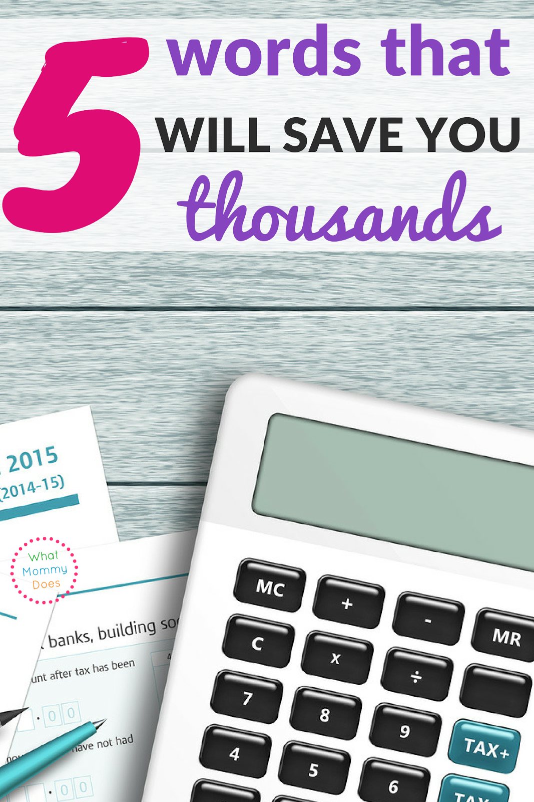 Learn how to save money each week by uttering 5 simple words! This is really powerful for budgeting.