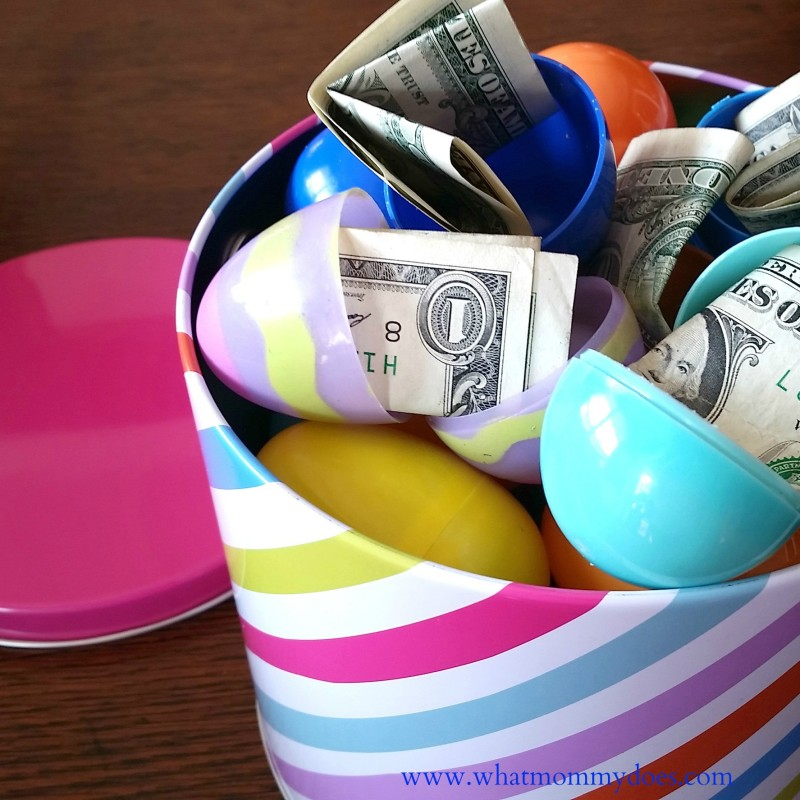 Easter what mommy does easter egg money bucket super cute graduation college student money gift idea negle