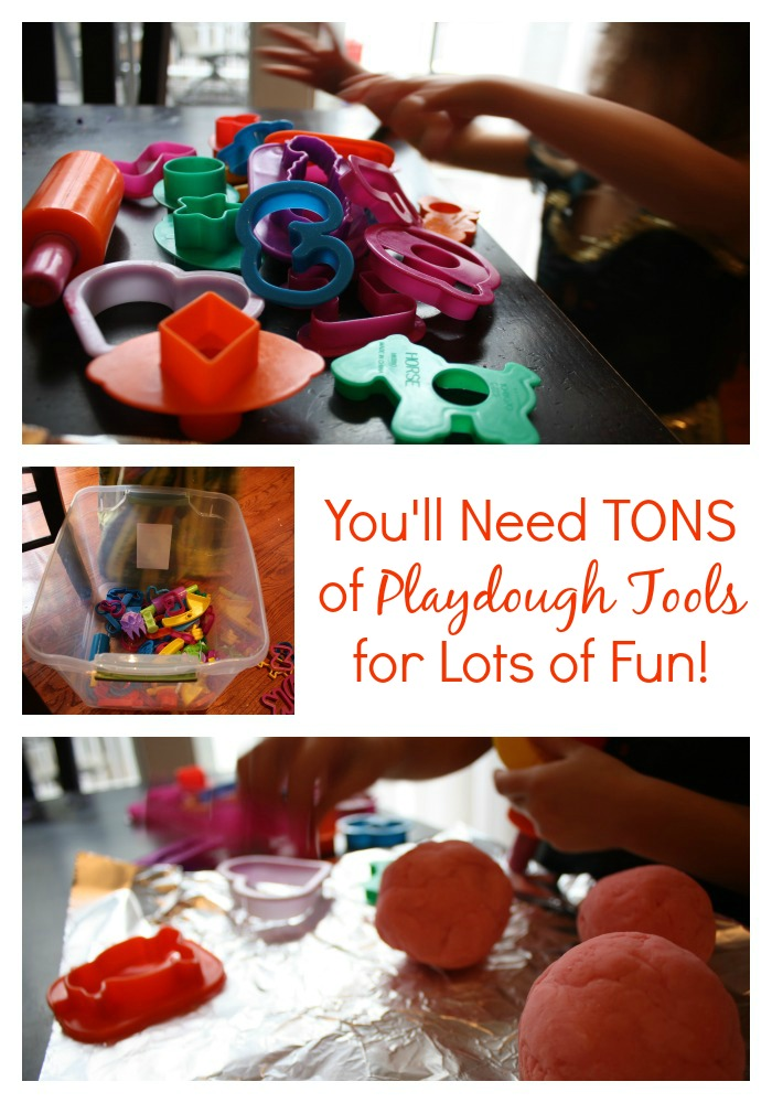Playing with Playdough Indoor Activity Idea