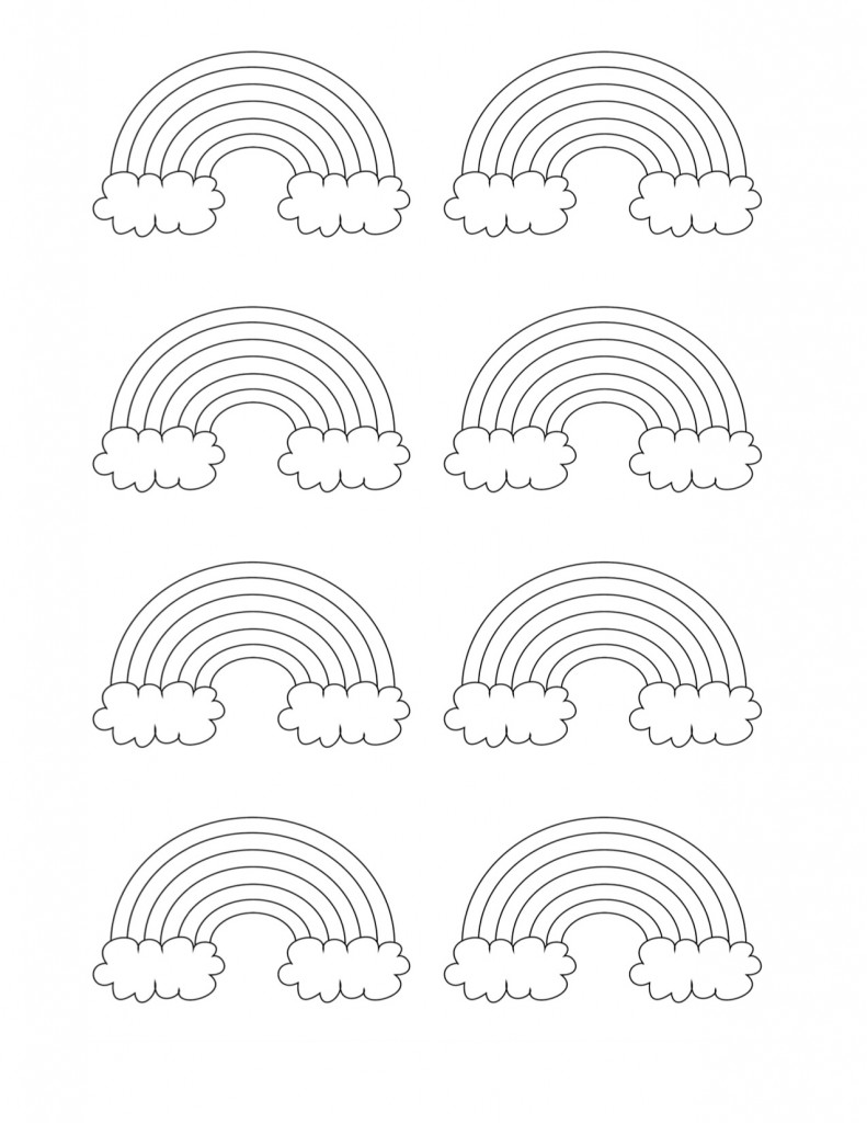 Free printable rainbow templates small medium large for Coloring page rainbow
