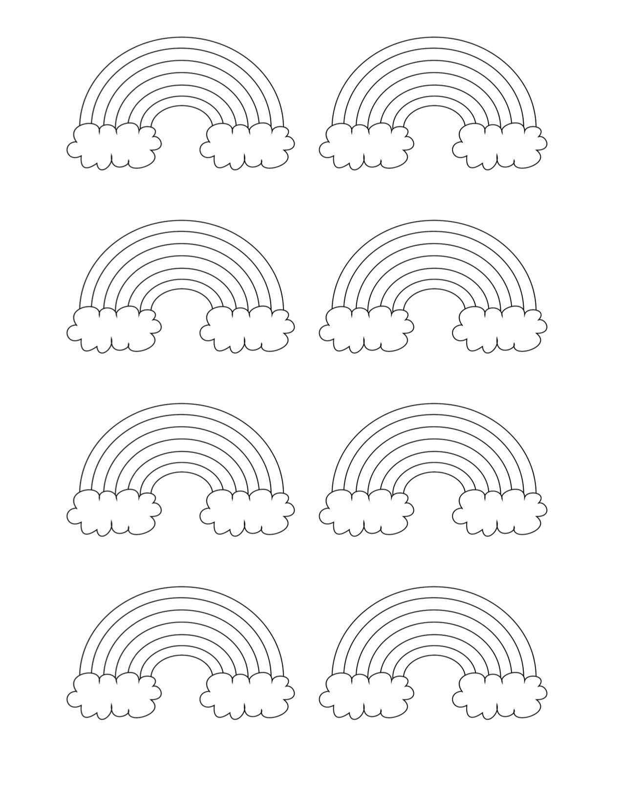Cute Rainbow Patterns with Clouds - Free Template You Can ...