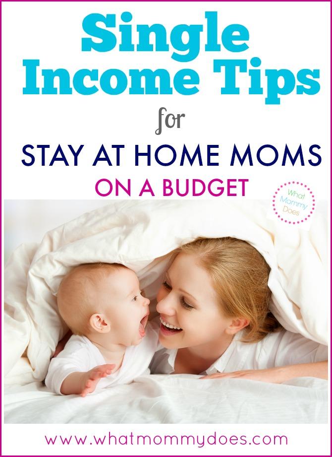 Single Income Tips for SAHMs on a Budget