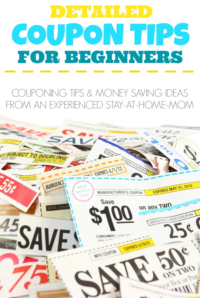 coupon tips for beginners - couponing tips and ideas