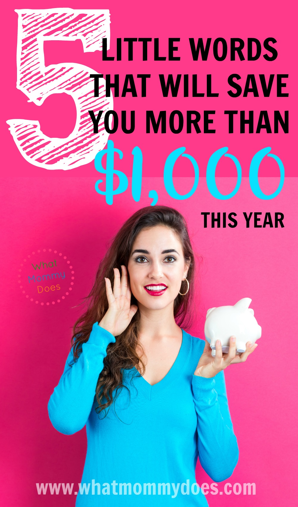 This works like a charm - any time I'm faced with an impulse buy, I say these 5 words & I can usually prevent myself from buying unnecessary junk!! I need all the budget tricks I can get to save more money. I am saving up for a new house! | money saving tips, how to save $1,000, budgeting strategies & hacks
