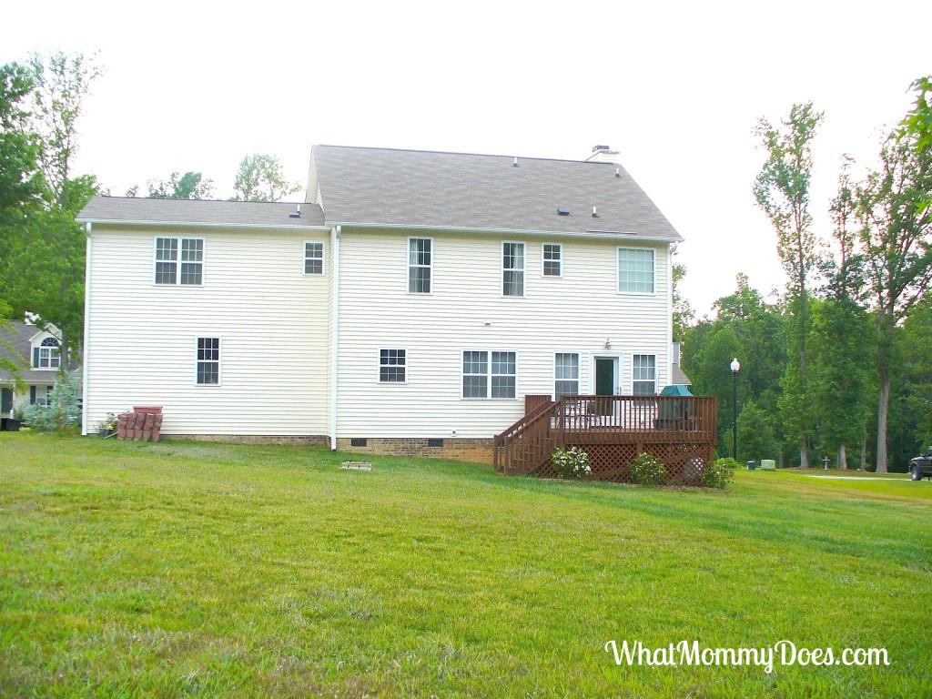 New Home Unfinished Back Yard Needs Major Landscaping