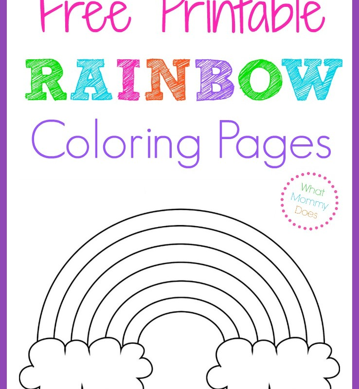 rainbow coloring page printable - printables what mommy does