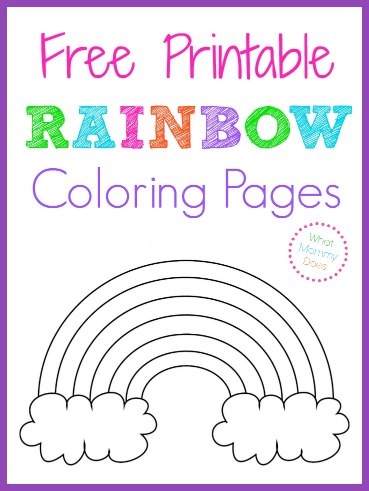 Free printable rainbow coloring pages what mommy does for Coloring page rainbow