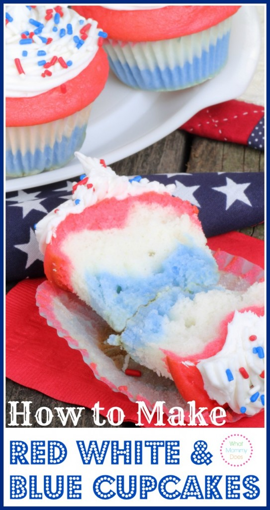 how to make red white blue patriotic cupcakes. Black Bedroom Furniture Sets. Home Design Ideas