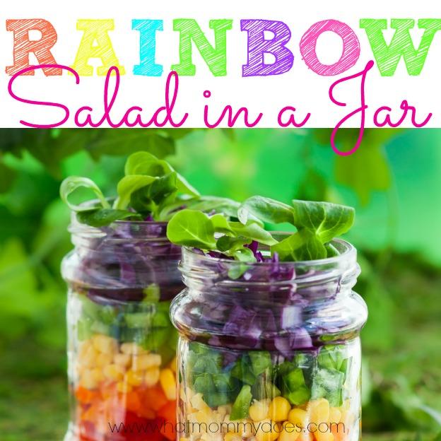 Rainbow Salad in a Jar Facebook