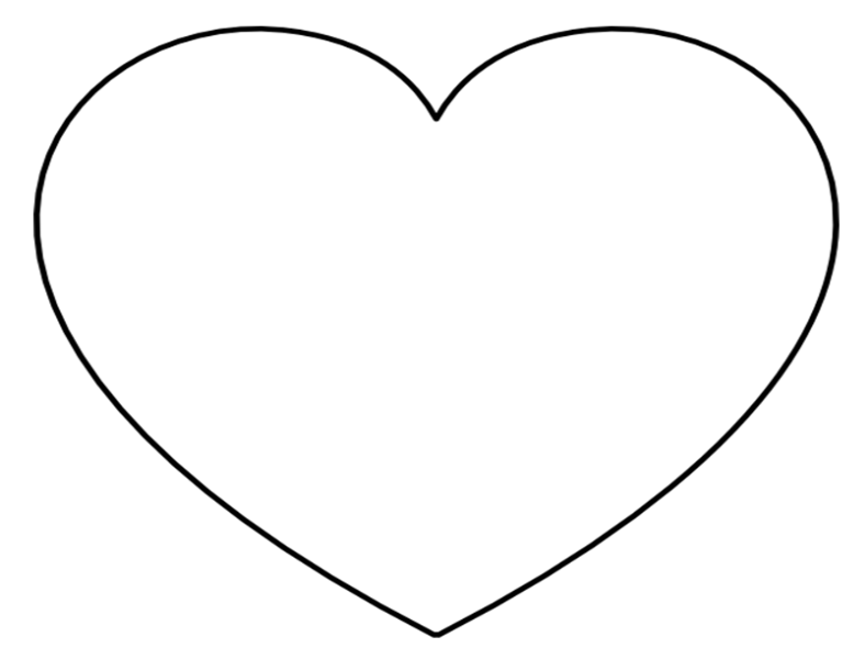 super sized heart outline