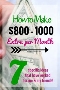 These are really cool money making ideas! This year I know I will be kicking myself if I don't figure out how to make an extra $1000 to pay for Christmas presents!!! Even beyond Christmas, I can see myself doing some of these in my free time when I need extra cash on a monthly basis.