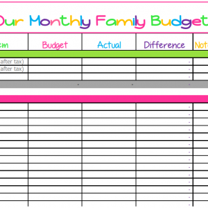 Cute Monthly Budget Printable – Free Editable Template