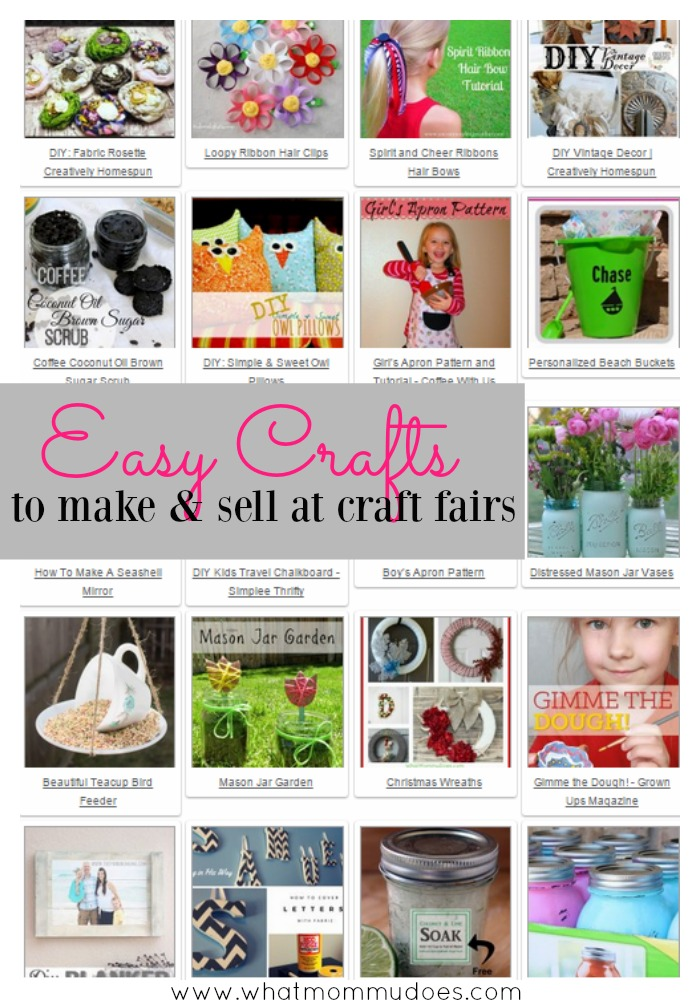 Easy Crafts To Make And Sell At Craft Fairsa List Of Super Cute