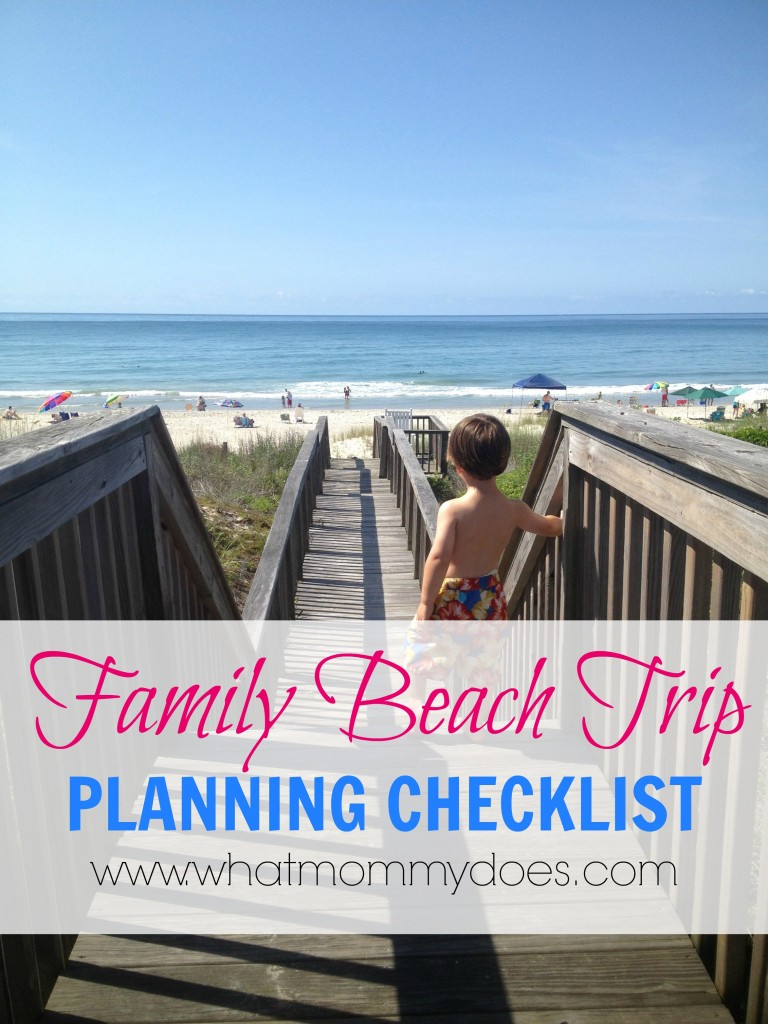 Family Beach Trip Planning Checklist
