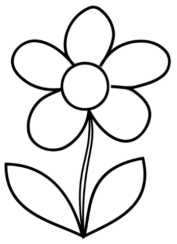 Free Printable Flower Template - I would make a lovely flower coloring page for little ones or even a sewing applique! Prints on a full size sheet of paper.