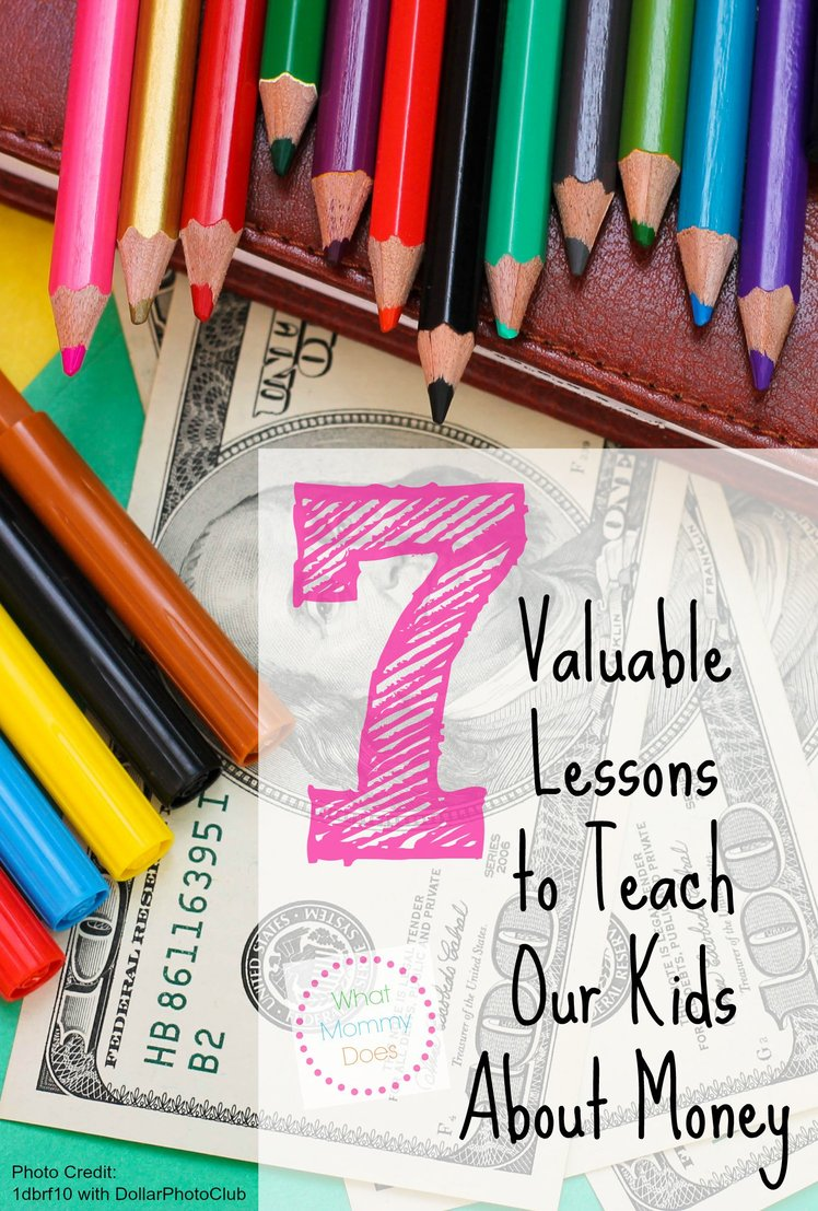 "7 tips for teaching kids lessons about money - As parents, we are our kids' money teachers. Our childrens' financial literacy education is in our hands. Here are 7 ways we can start teaching ""our students"" about how to make money / what to do with earned money, saving money, handling gifts of money, making purchases, setting goals, and more!"