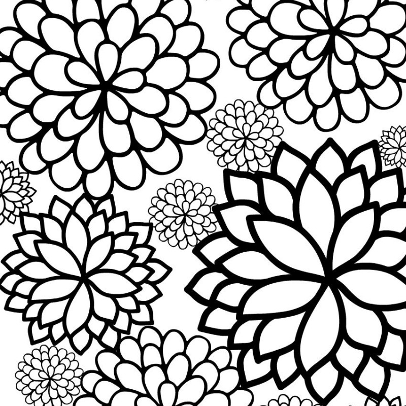 I just love pretty floral coloring sheets - here's a beautiful garden inspired coloring page for grown ups and big kids. Grab this unique, free printable flowering coloring page from WhatMommyDoes.com and print out as many copies as you'd like!