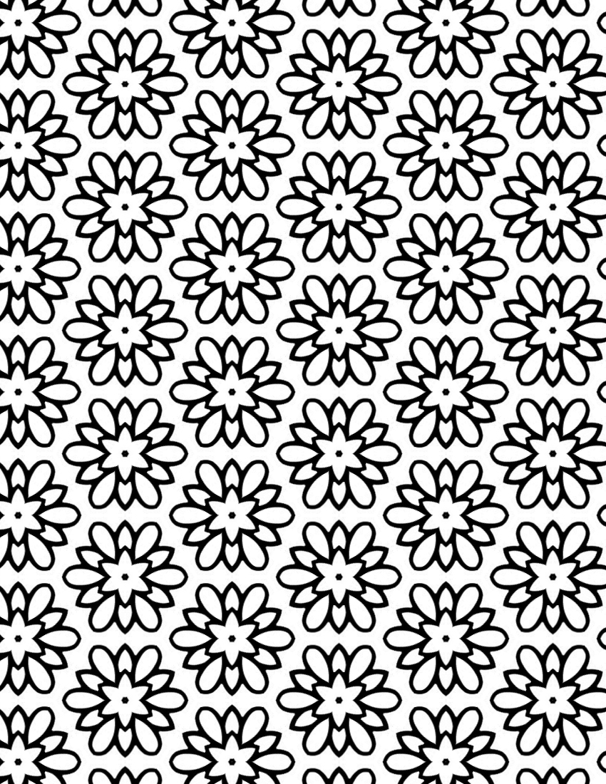 FLOWER MEDALLION Free Printable Adult Coloring Page - Grab this pretty flower coloring sheet if you'd like an advanced coloring activity. I love the repeating pattern - so soothing!