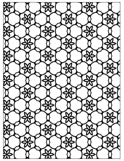 Geometric Floral Stars Coloring Page