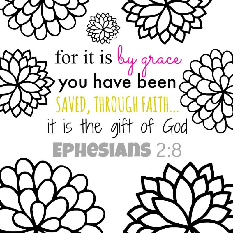 Bible Verse Coloring Page - Here's my latest free printable adult coloring pages. It's a pretty floral pattern whether or not you color it, but even my kids like to color it. It's their favorite flower coloring sheet. Free download at this link.
