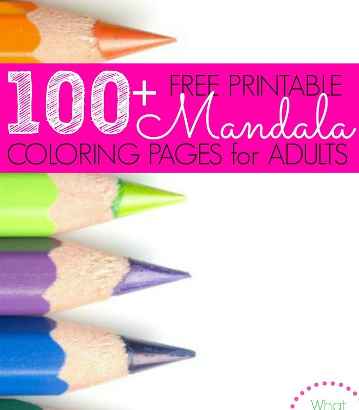 100+ Free Printable Mandala Coloring Pages for Adults