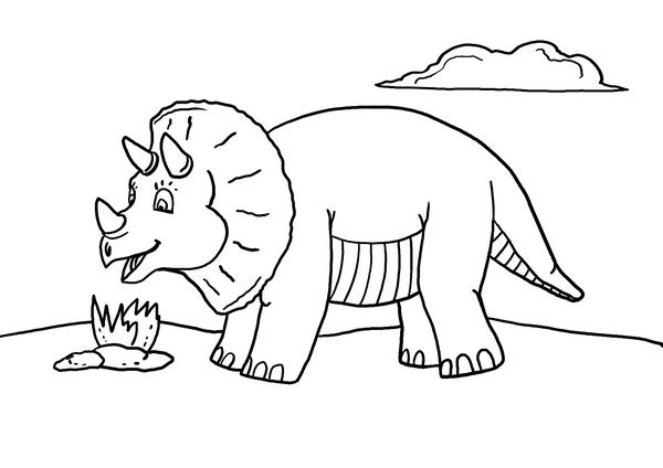 Free Printable Dinosaur Coloring Page - So Cute!