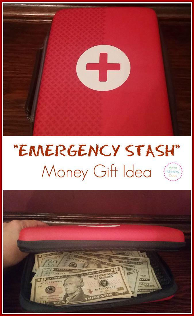 emergency stash money gift idea
