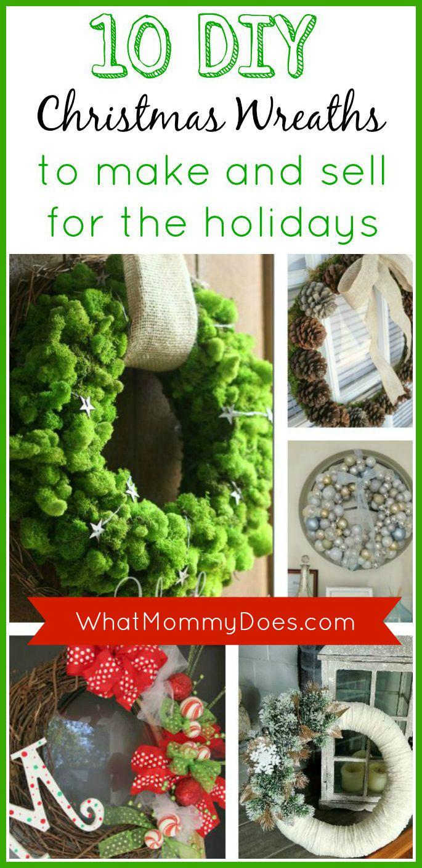 10 DIY Christmas Wreaths to Make and Sell #2