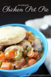 This CROCKPOT CHICKEN POT PIE RECIPE is so easy, you'll be shocked! Perfect when I need an easy dinner, and it's very kid-friendly…they prefer this chicken pot pie recipe to the traditional kind.