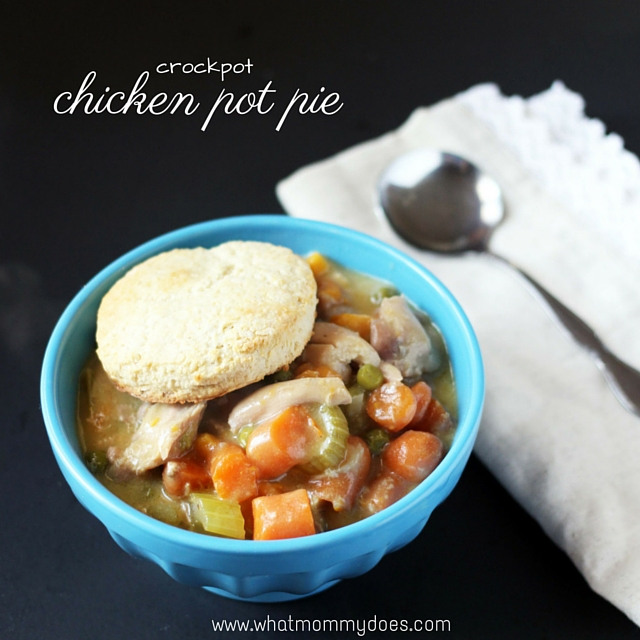 Easy Crockpot Chicken Pot Pie, a comfort food classic that the whole family will love, and you'll love that it took less than 15 minutes of active prep time