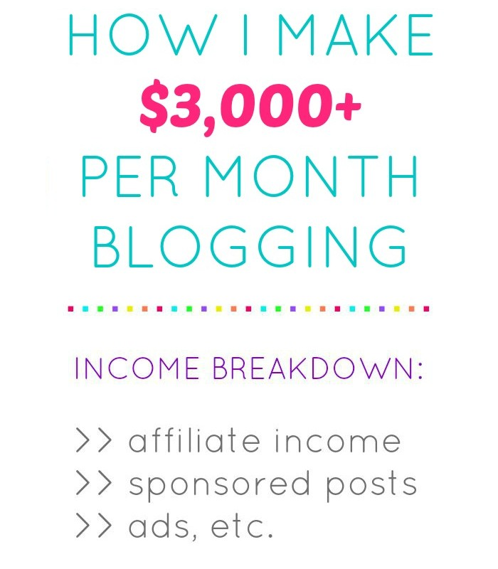 How I Make $3000+ Per Month Blogging ~ July 2015 Income Report