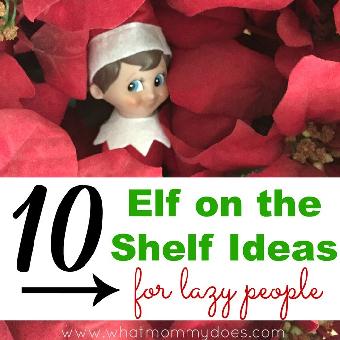 10 elf on the shelf ideas for lazy people Facebook