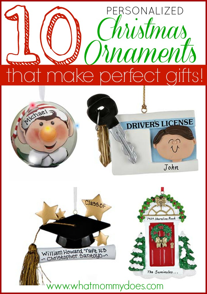 10 personalized christmas ornaments
