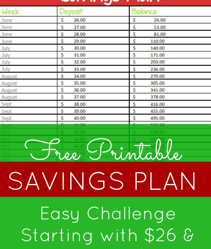 26-Week / Extra $1,000 by Christmas Savings Plan – Start with $26, End with $1,000 to Buy Christmas Gifts!