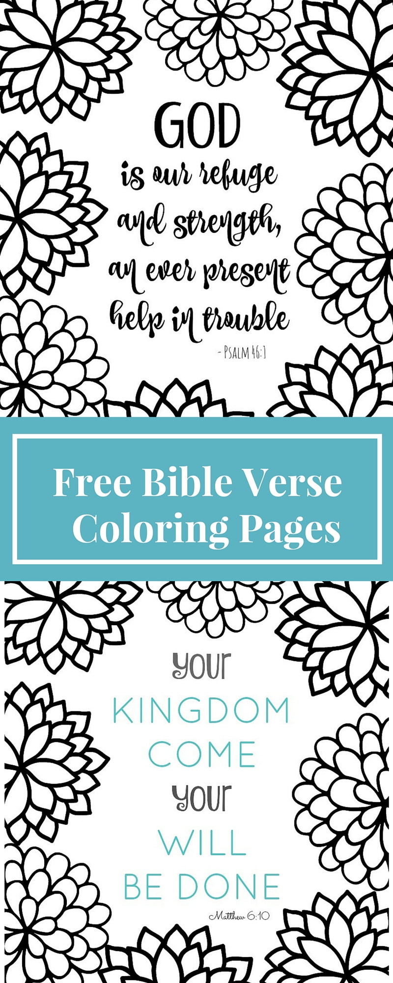 Coloring pages are for grown ups now! These Bible verse coloring page printables are fun & relaxing to color. This blog has tons of free printable adult coloring pages!