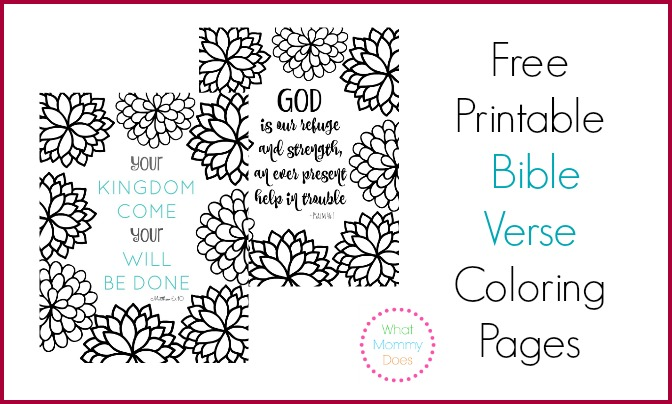 Free Printable Bible Verse Coloring Pages with Bursting Blossoms ...