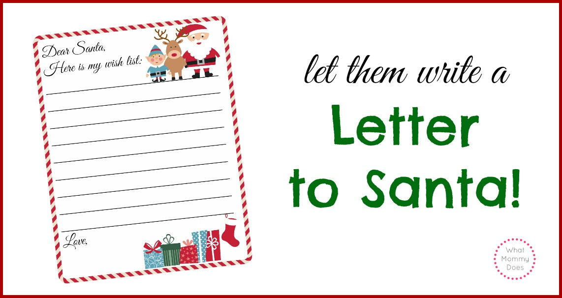 picture about Printable Santa List named Totally free Printable Letter toward Santa Template ~ Lovely Xmas