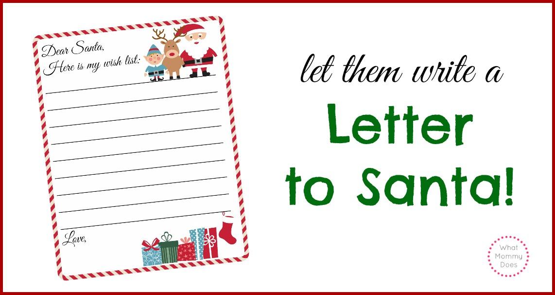Free Printable Letter to Santa Template Cute Christmas Wish List – Santa Wish Lists