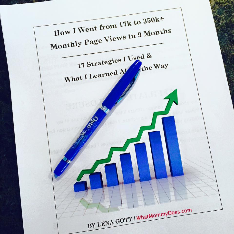 blog traffic ebook - tips and tricks I used to increase my blog traffic
