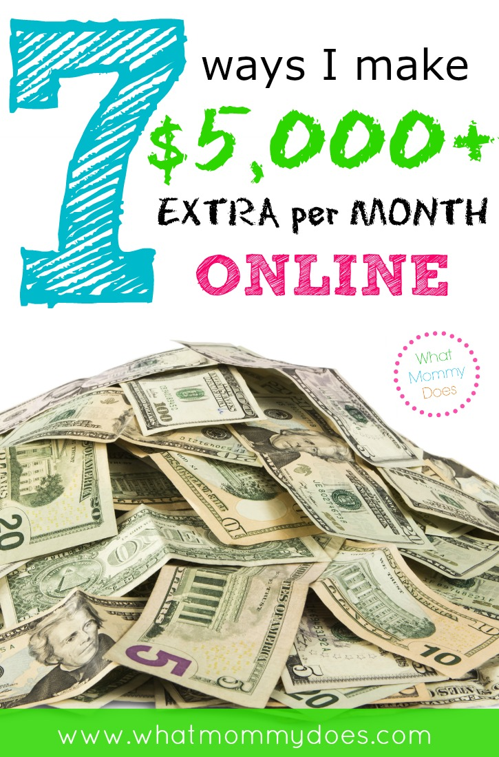 7 Ways I Make 5000 per Month online working from home