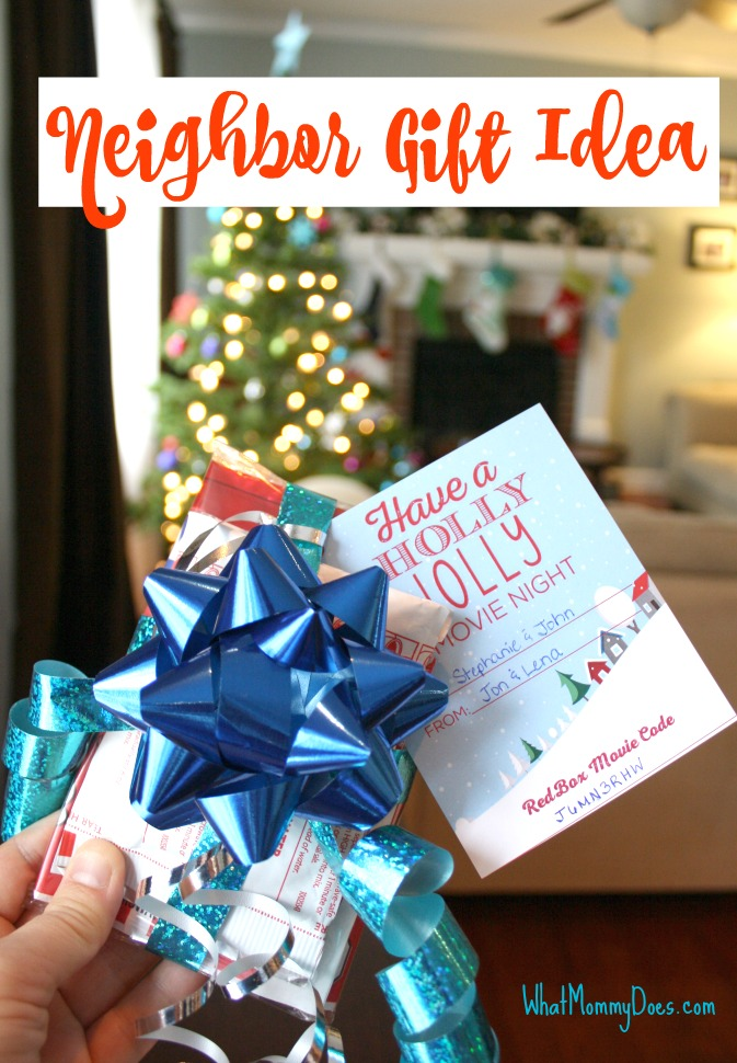 Redbox Neighbor Gift Idea - Cute Redbox Neighbor Christmas Gift Idea - What Mommy Does
