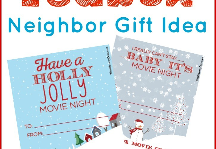 Cute Redbox Neighbor Christmas Gift Idea